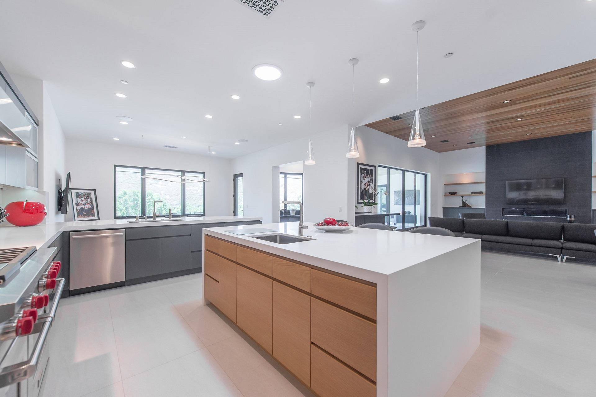 Dòng Urban Grey được sử dụng trong nhà bếp
