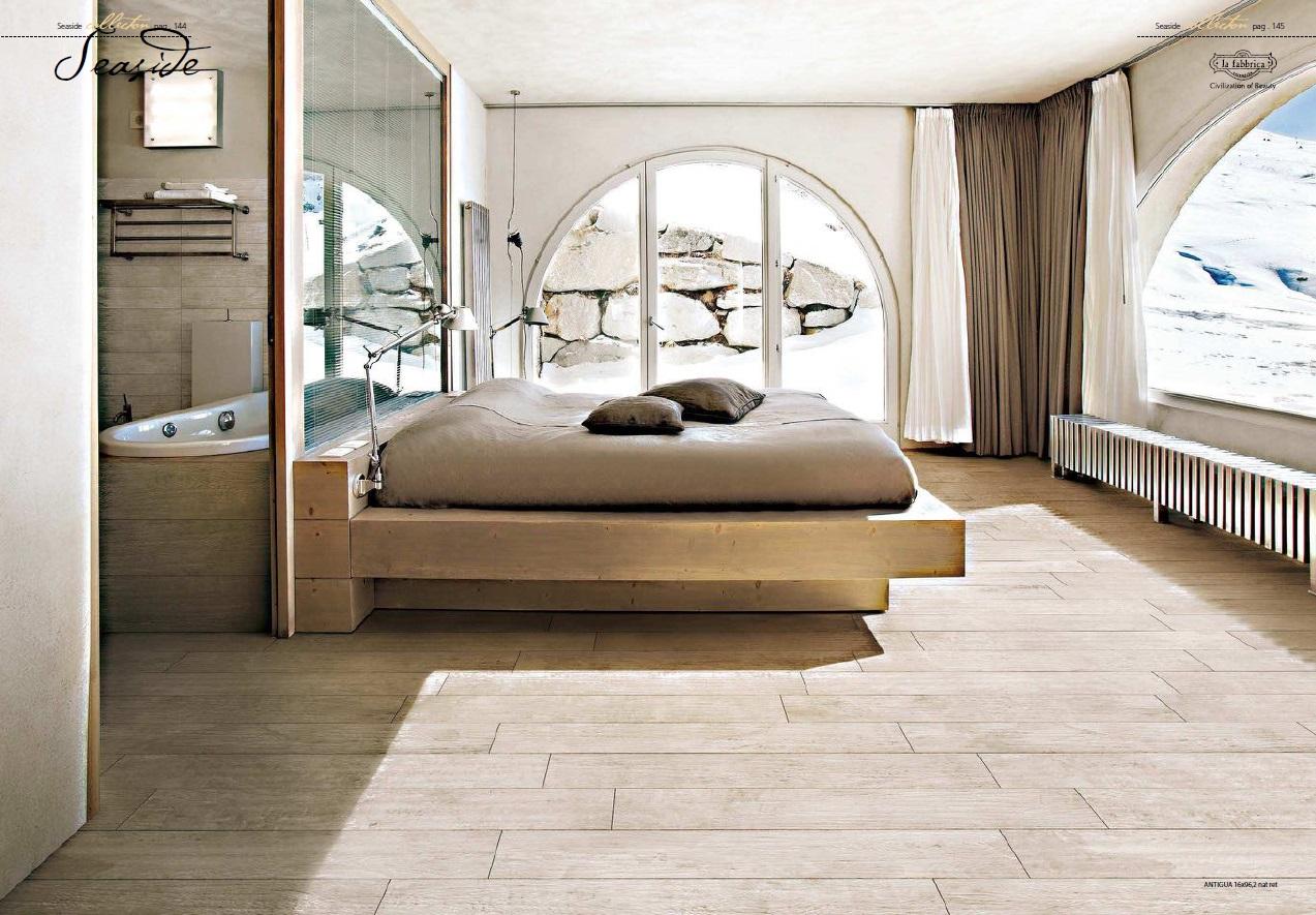Phòng ngủ ấm cúng hơn với màu sắc hài hòa từ dòng gạch gỗ Seaside Antigua