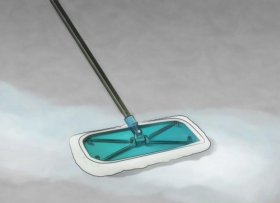 Làm sạch vị trí sàn mà bạn muốn lót, chờ cho khô