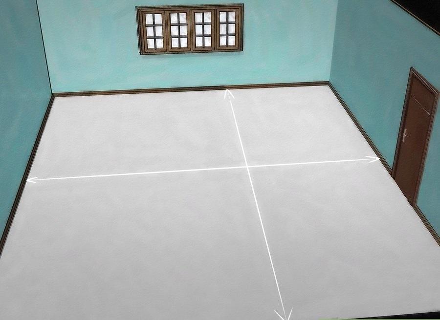 Đo chiều dài và rộng mặt sàn, làm một bản phác thảo trên giấy