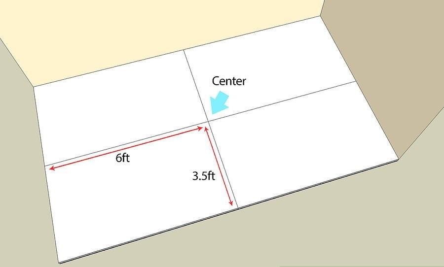 Tìm điểm trung tâm của mặt sàn