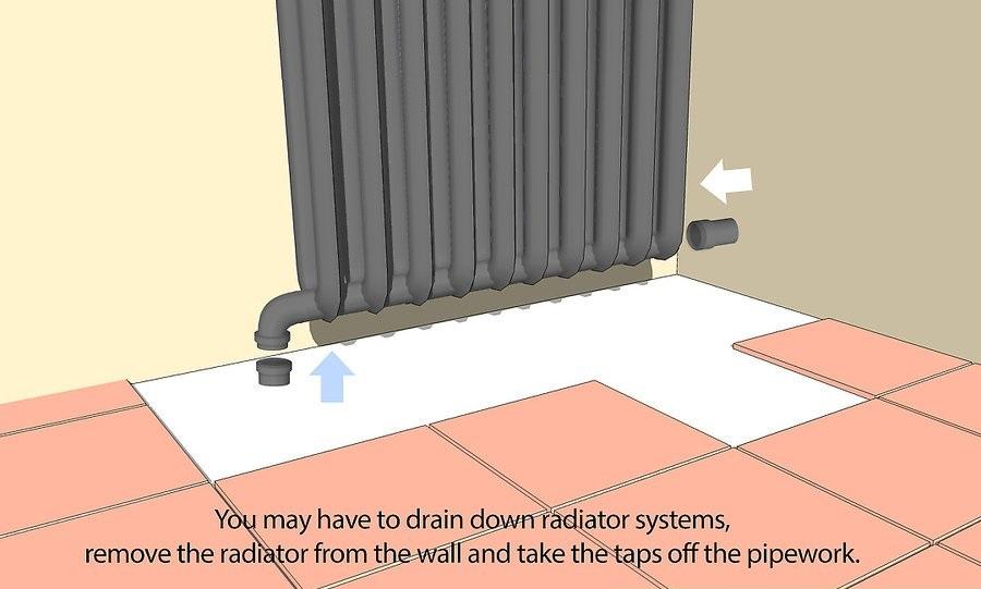 hoan trước một số viên gạch để đặt vừa với các hạng mục như ống tản nhiệt, ống nước và các hạng mục khác