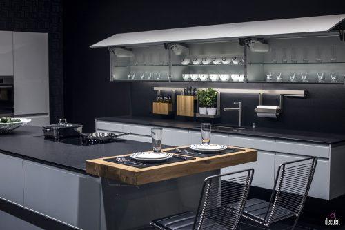 Chọn gạch ốp đảo bếp theo phong cách đơn giản, hiện đại