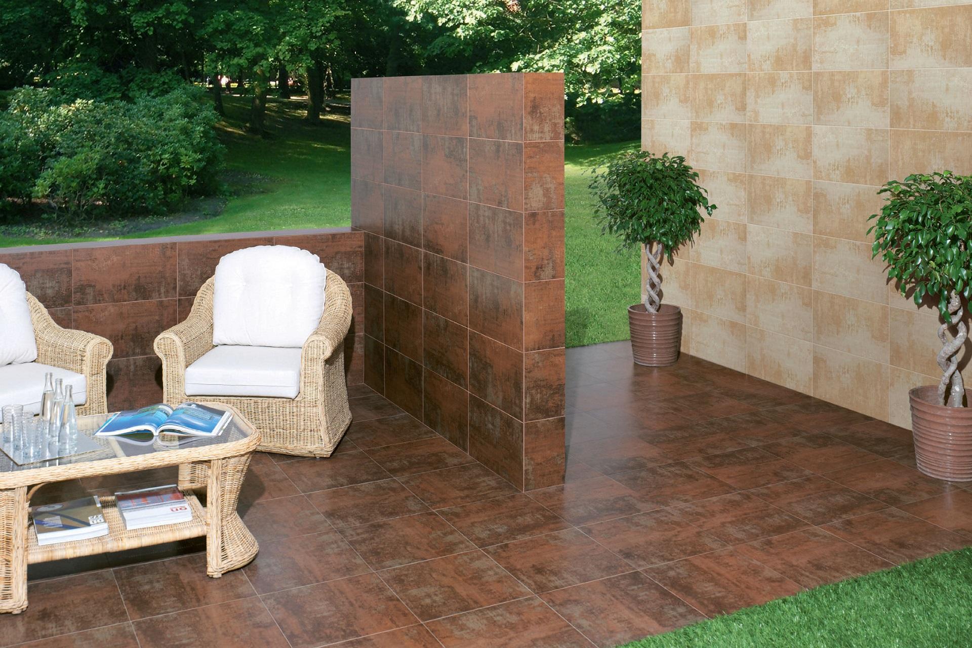 Sử dụng gạch ốp tường ngoài trời giúp cho ngôi nhà bền vững hơn.